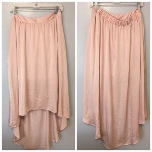 LC Lauren Conrad Rose Midi Skirt ElasticWaistband